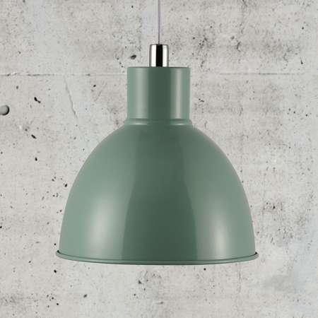 Nordlux Závesná lampa Pop s kovovým tienidlom, zelená
