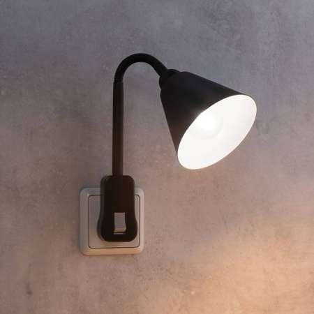 Paulmann Paulmann Junus zástrčkové svietidlo pružné čierne