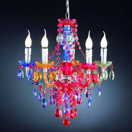 Reality Leuchten Visiaci luster Perdita 5-plameňový pestrý