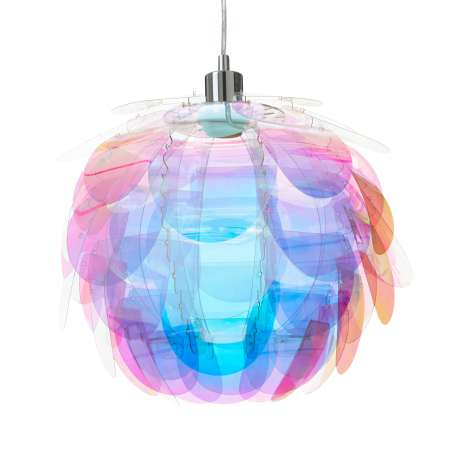 Reality Leuchten Závesná lampa Clover v dúhových farbách