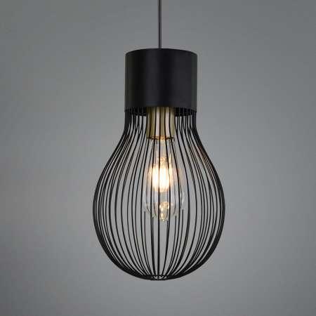 Reality Leuchten Závesná lampa Dave, 1-plameňová, čierna