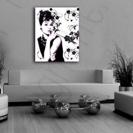 Ručne maľovaný POP Art obraz Audrey Hepburn  ah5