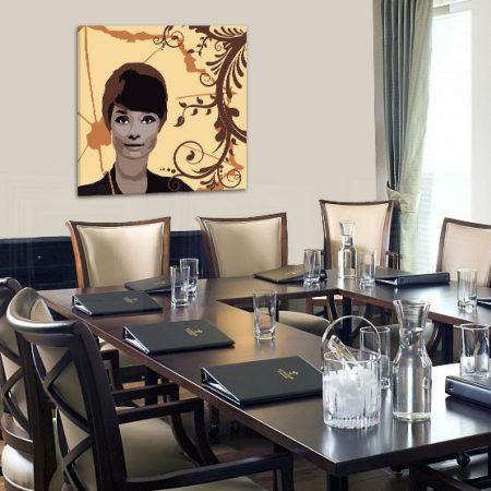 Ručne maľovaný POP Art obraz Audrey Hepburn  ah7