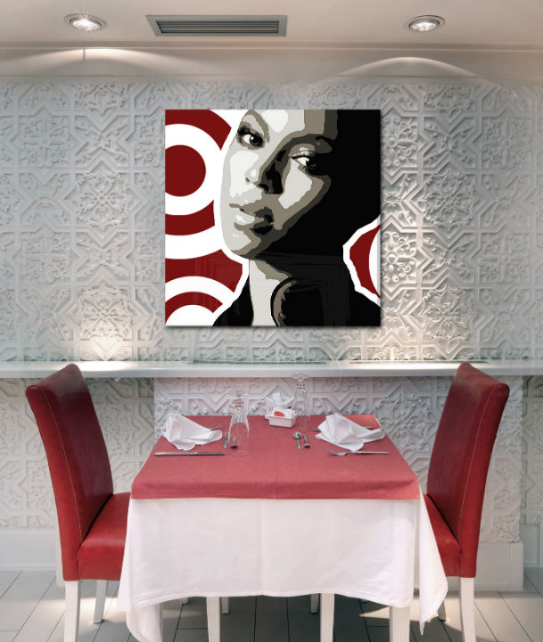 Ručne maľovaný POP Art obraz BEYONCÉ  bey3
