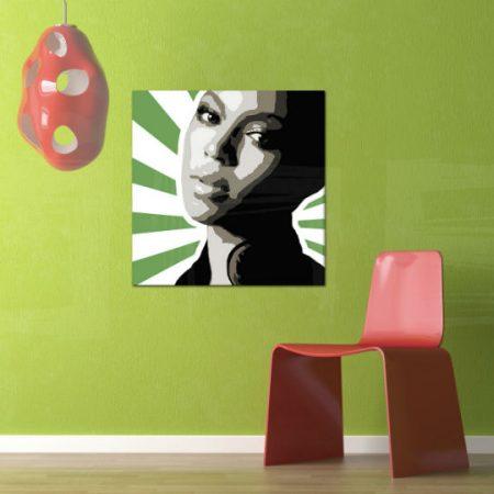 Ručne maľovaný POP Art obraz BEYONCÉ  bey4