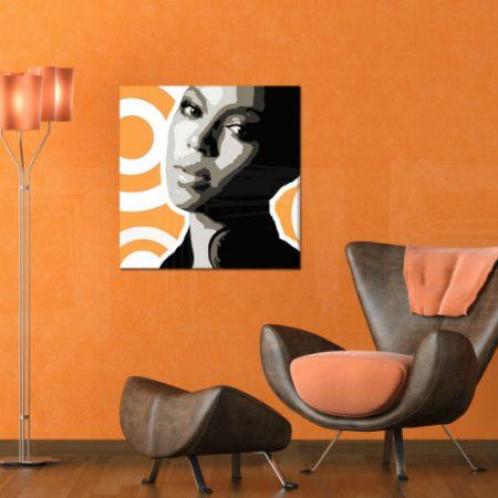 Ručne maľovaný POP Art obraz BEYONCÉ  bey6