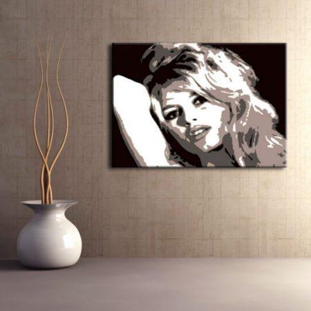 Ručne maľovaný POP Art obraz Brigitte Bardot  bar
