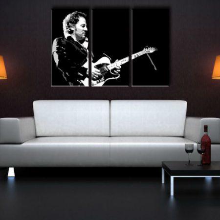 Ručne maľovaný POP Art obraz Bruce Springsteen 3 dielny  bs