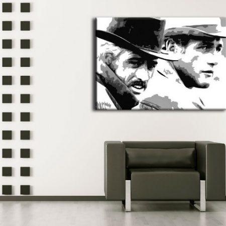 Ručne maľovaný POP Art obraz Butch Cassidy  bc