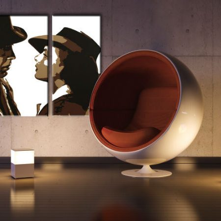 Ručne maľovaný POP Art obraz CASABLANCA 3 dielny  casa