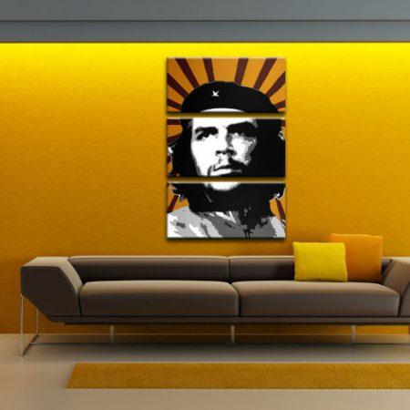 Ručne maľovaný POP Art obraz Che Guevara 3 dielny  che