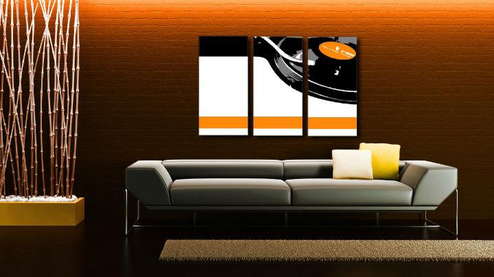 Ručne maľovaný POP Art obraz DJ 3 dielny  dj5