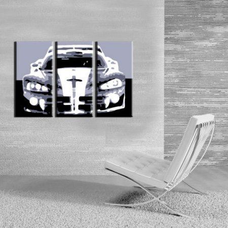 Ručne maľovaný POP Art obraz Dodge Viper GTS 3 dielny  vip