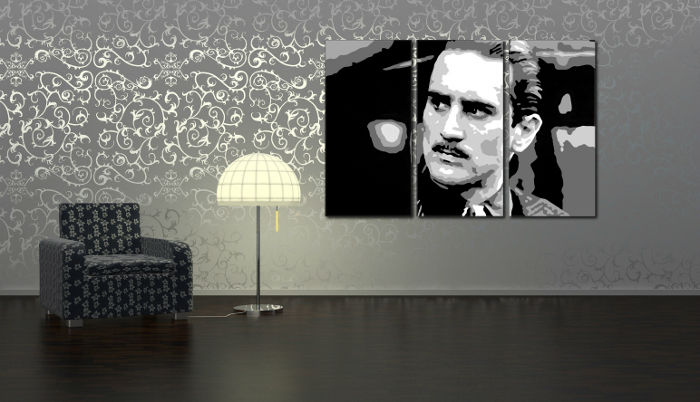 Ručne maľovaný POP Art obraz Godfather Rober De Niro 3 dielny  god