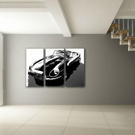 Ručne maľovaný POP Art obraz JAGUAR 3 dielny  jag