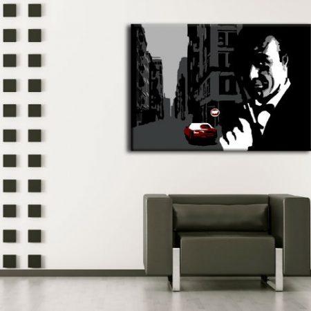 Ručne maľovaný POP Art obraz James Bond  bond3