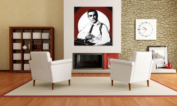 Ručne maľovaný POP Art obraz James Bond  bond4