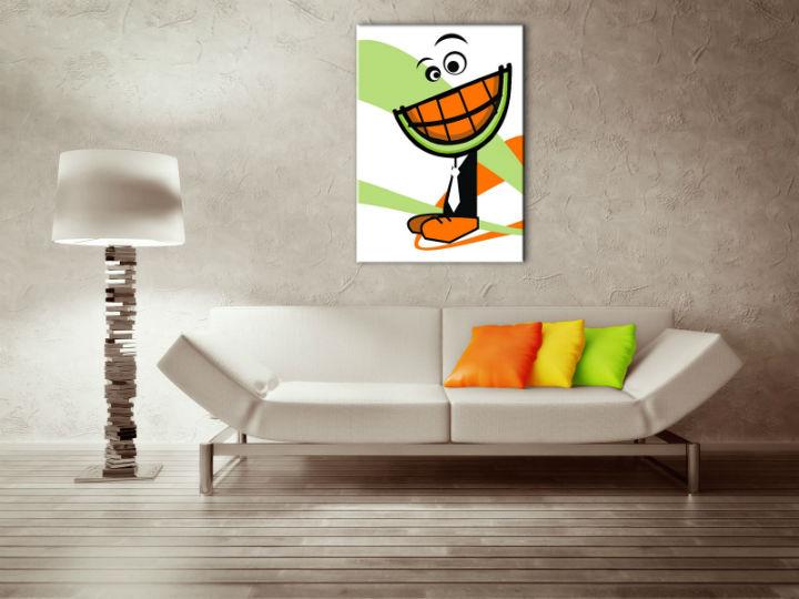 Ručne maľovaný POP Art obraz MELON  melon