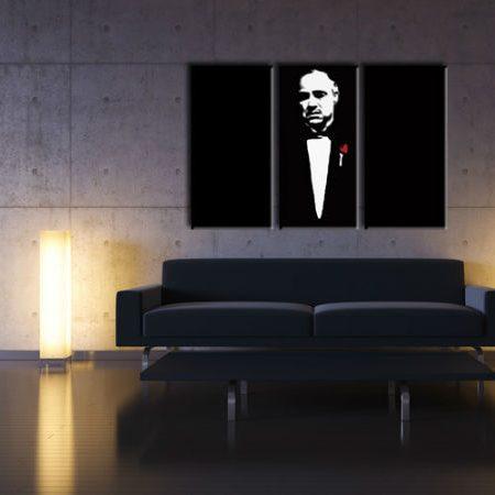 Ručne maľovaný POP Art obraz Marlon Brando 3 dielny  gwr