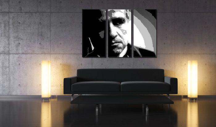 Ručne maľovaný POP Art obraz Marlon Brando 3 dielny  mb
