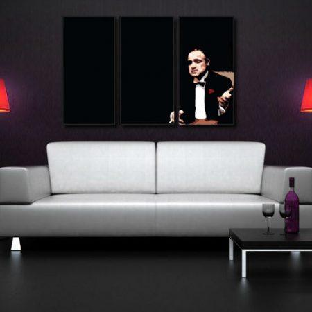 Ručne maľovaný POP Art obraz Marlon Brando 3 dielny  mb3