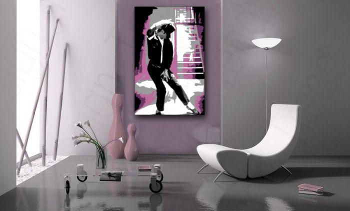Ručne maľovaný POP Art obraz Michael Jackson  mj3