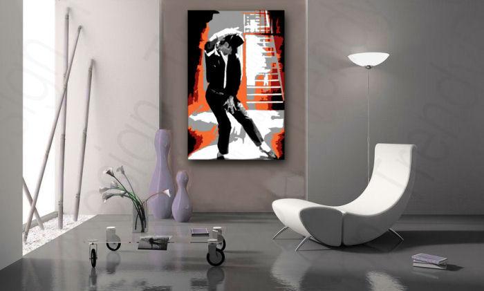 Ručne maľovaný POP Art obraz Michael Jackson  mj4
