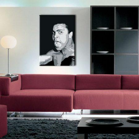 Ručne maľovaný POP Art obraz Muhamad Ali  ali