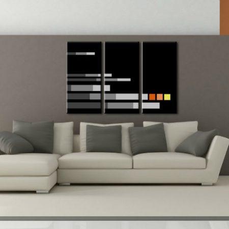 Ručne maľovaný POP Art obraz NEW POP Art obraz 3 dielny  np