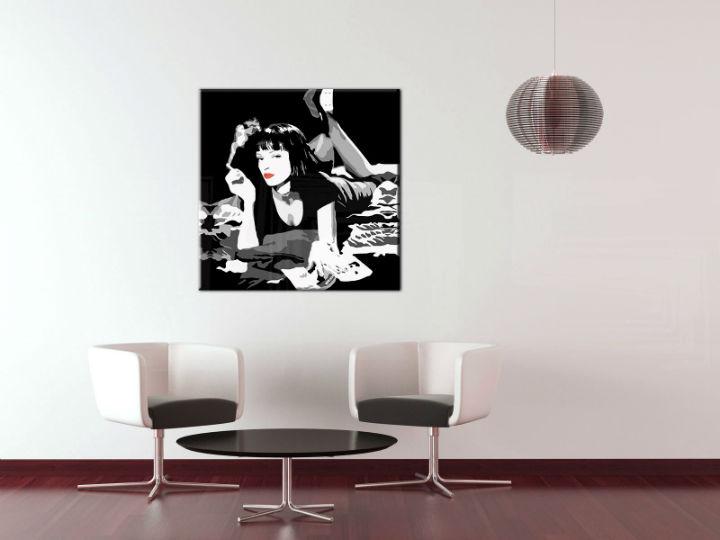 Ručne maľovaný POP Art obraz PULP FICTION  pulp6