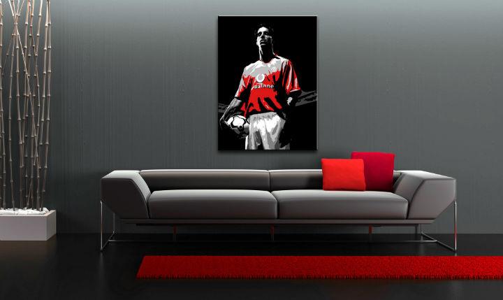 Ručne maľovaný POP Art obraz Ruud van Nistelrooy  rvn