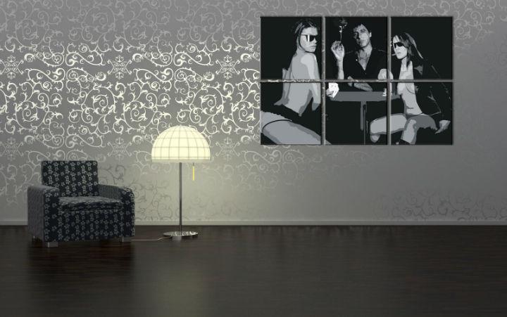 Ručne maľovaný POP Art obraz Scarface - AL PACINO 6 dielny  alg