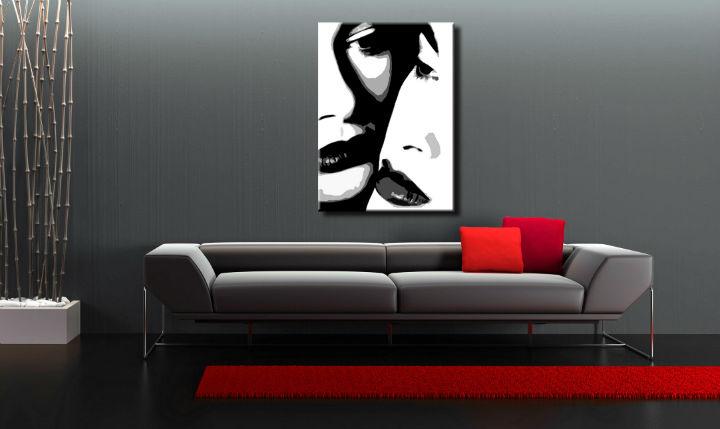 Ručne maľovaný POP Art obraz Two women  00 2w