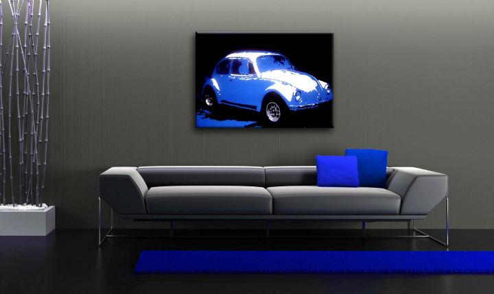 Ručne maľovaný POP Art obraz Volkswagen Beetle  k