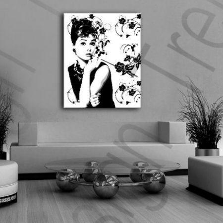 Ručne maľovaný POP Art obraz Zľava -15% Audrey Hepburn ah4