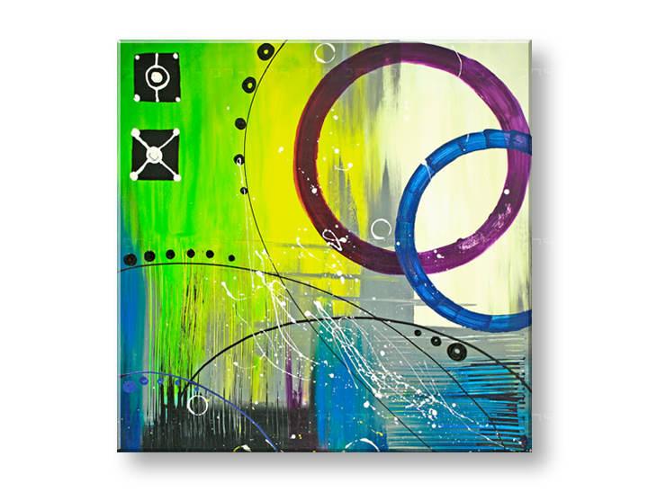 Ručne maľovaný obraz DeLUXE -  ABSTRAKT 1 dielny 054D1