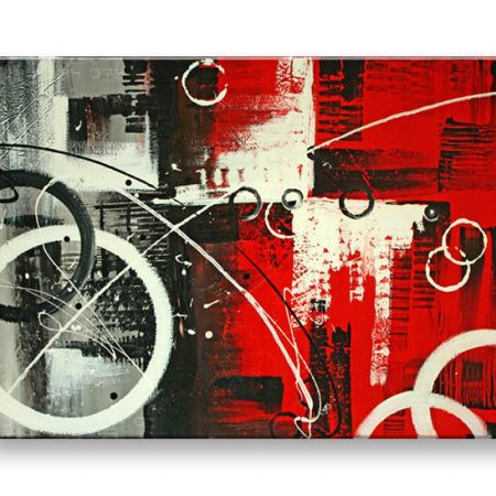 Ručne maľovaný obraz DeLUXE -  ABSTRAKT 1 dielny 058D1
