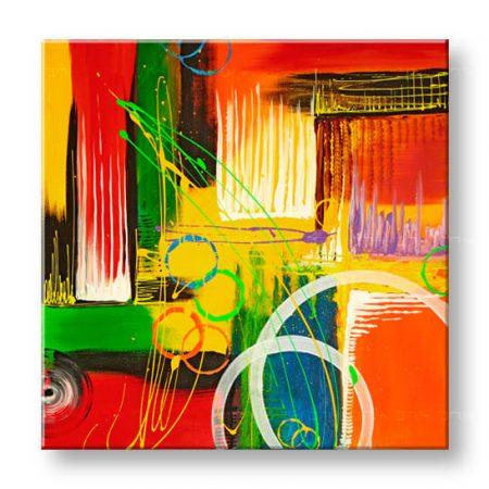 Ručne maľovaný obraz DeLUXE -  ABSTRAKT 1 dielny 073D1
