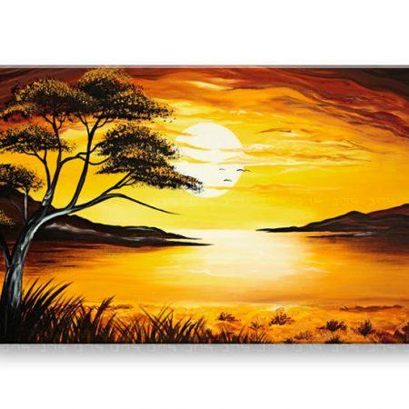 Ručne maľovaný obraz DeLUXE - KRAJINA 1 dielny 060D1