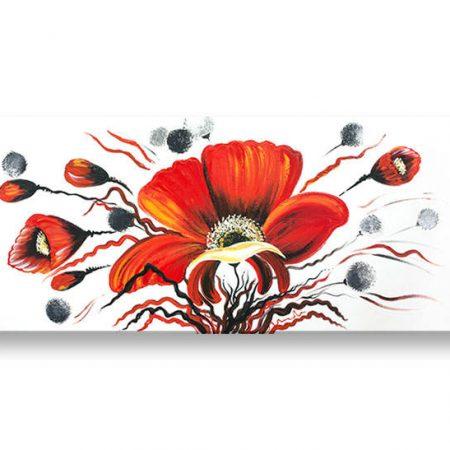Ručne maľovaný obraz DeLUXE KVETY 1 dielny YOB135D1