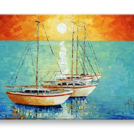 Ručne maľovaný obraz LODE BI0084E1