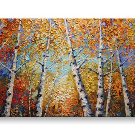 Ručne maľovaný obraz STROMY BI0056E1
