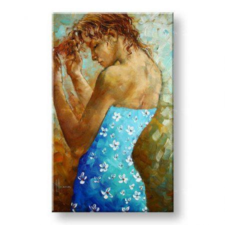 Ručne maľovaný obraz ŽENA BI0090E1