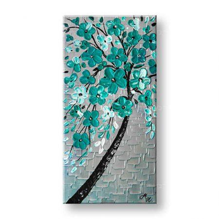 Ručne maľovaný obraz na stenu 1 dielny KVETY YOBBI184E1