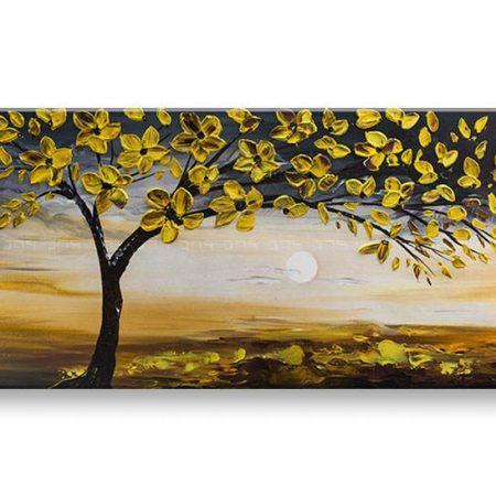 Ručne maľovaný obraz na stenu 1 dielny STROM  YOBBI178E1