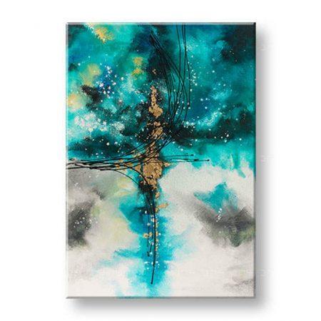 Ručne maľovaný obraz na stenu ABSTRAKT 1 dielny YOBAM002E1