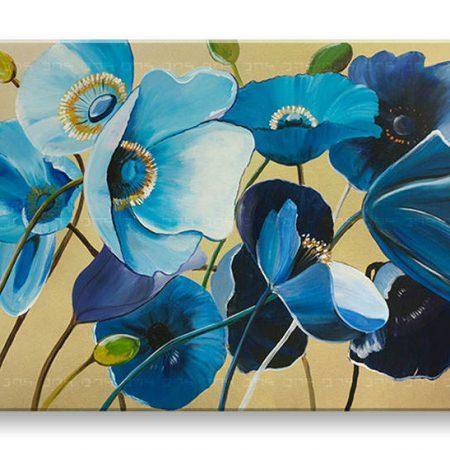 Ručne maľovaný obraz na stenu KVETY 1 dielny YOBAM004E1