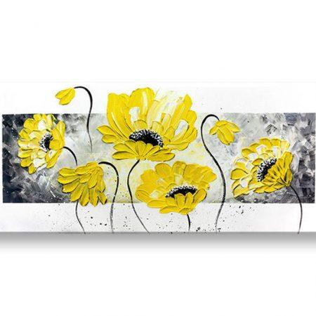 Ručne maľovaný obraz na stenu KVETY 1 dielny YOBAM011E1