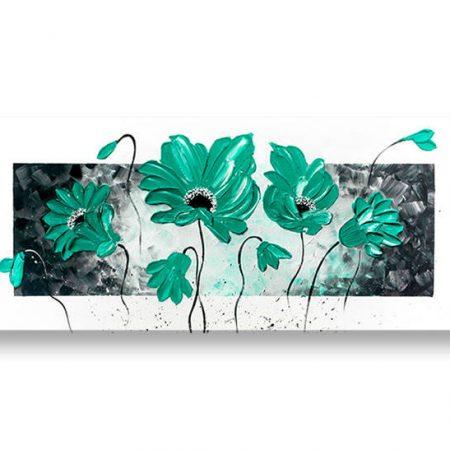 Ručne maľovaný obraz na stenu KVETY 1 dielny YOBAM012E1