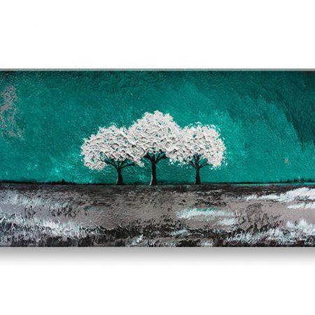 Ručne maľovaný obraz na stenu STROMY 1 dielny YOBAM008E1